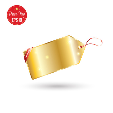 Price tag. Price tag luxury gold label. Gold price tag isolated on white background. Sale label Vector Advertising. Tag price market. Holiday Shopping tag price. Christmas Sale poster. Thanksgiving. Black Friday. 2017 Illustration