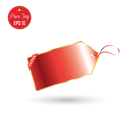 Price tag. Price tag label, icon, logo. Red price tag isolated on white background. Sale label Vector Advertising. Tag price market. Holiday Shopping tag price. Christmas Sale. Thanksgiving. 2017 Illustration