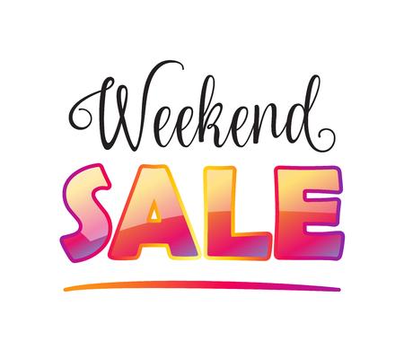Weekend Sale wallpaper. Sale discount banner. Vector. Advertising Sale poster design.