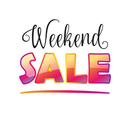 house clearance: Weekend Sale wallpaper. Sale discount banner. Vector. Advertising Sale poster design.