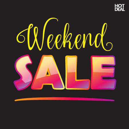 house clearance: Sale. Weekend Sale banner. Autumn Sale Advertising. Hot Deal Sale. Vector