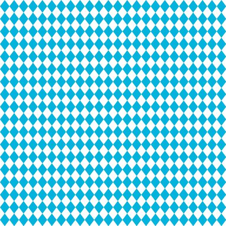 Oktoberfest - blue Bavarian flag seamless pattern. Vector October festival illustration, blue color. Germanys Oktoberfest worlds biggest wine festival. Seamless Oktoberfest and geometric pattern. Autumn festival. Germany, rhombus structure Bavarian flag