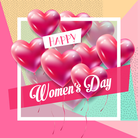 8 March Happy Women's Day. Eighth March Greeting card. 8 march international womens day Spring Holiday. Futuristic, modern design. Vector illustration