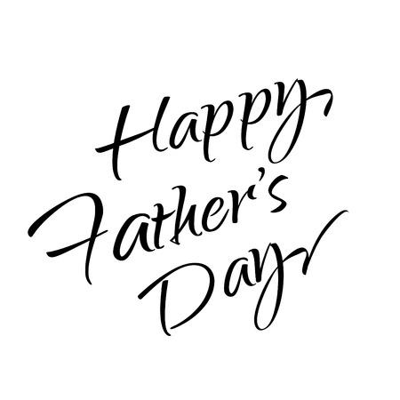 Happy Father's Day belettering. Kalligrafie. Vector Happy Fathers Day Geschenkenkaart, sjabloon. Hand getekend. Zwarte inkt
