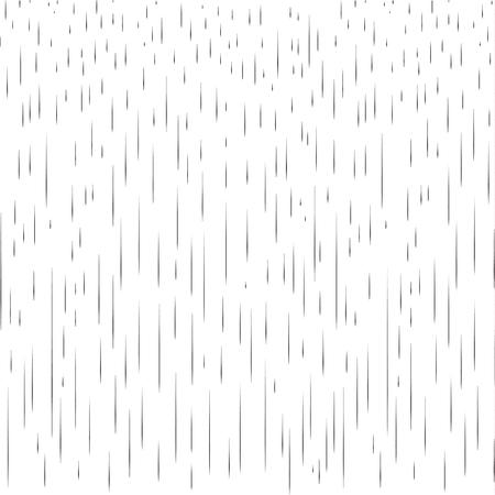 Rain. Rainy pattern. Raindrops texture. Black lines on white background. Fall rain. Rainy day vector illustration, print.