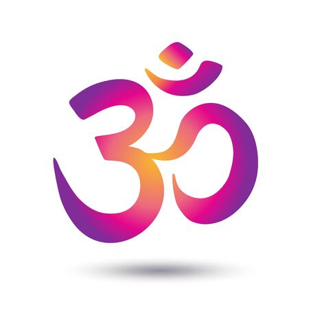 Colorful symbol isolated on white background. Vector Indian philosophy icon Illustration