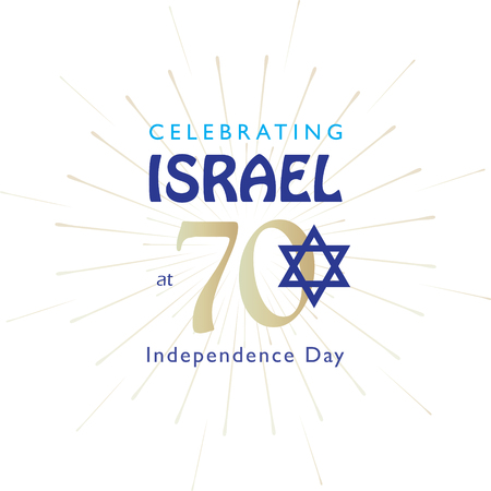 Israel 70 anniversary emblem Independence Day Festival