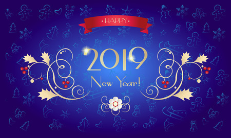 2019 New Year ornamental Christmas Holiday decoration