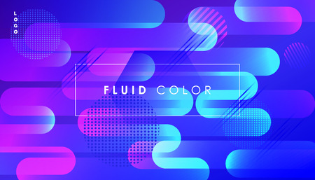 Abstract ultraviolet banner with geometric shapes futuristic dynamic design business card concept.