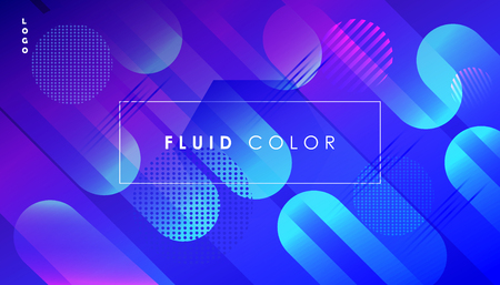 Abstract banner fluid geometric dynamic shapes business card concept. Illustration