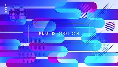 Abstract fluid dynanic geometric shapes futuristic banner.