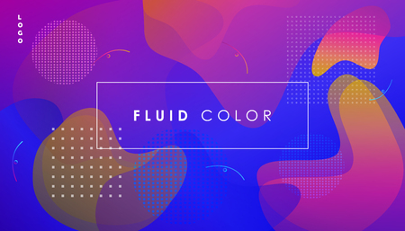 Abstract ultroviolet wallpaper with fluid geometric shapes dynamic futuristic design.