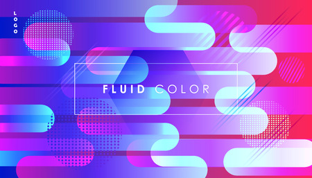 Abstract ultraviolet background with dynanic geometric shapes banner. Illustration