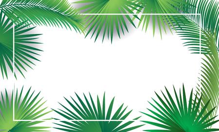 Sukkot palm leaves frame sukkah green tropical leafs decoration
