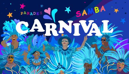 Rio Brazilian Carnival Festival Music Samba Dance Party Abstract