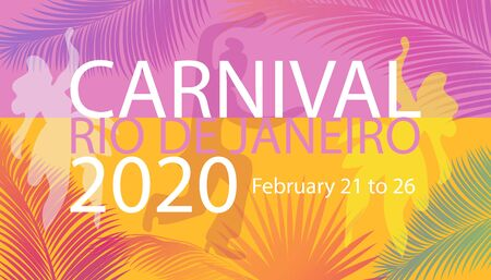 2020 Rio Brazilian Carnival Festival Music Samba Dance Party Abstract Mardi Gras Brochure Cover