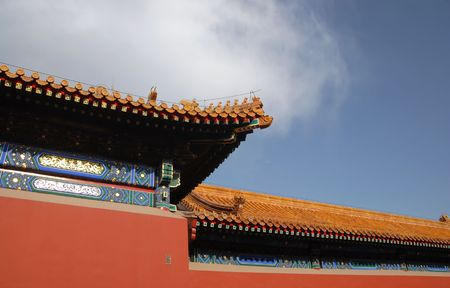 ancient architecture in forbidden city Stock Photo