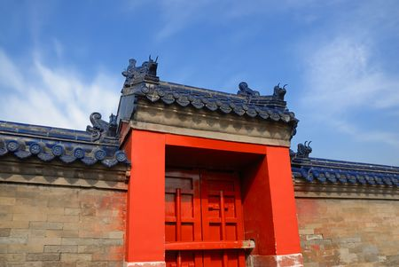 gate and wall in forbidden city