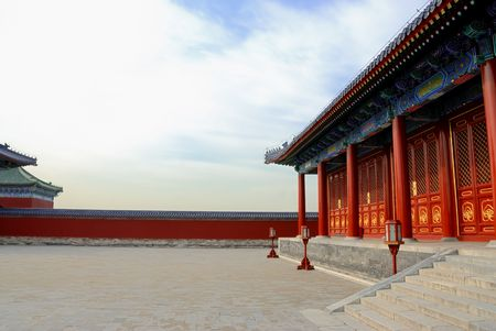 ancient architecture in the temple of heaven