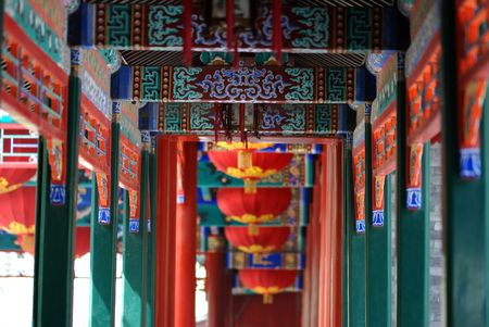 chinese traditional porch in prince Gongs palace