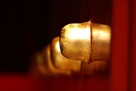 doorknob in lama temple of Beijing