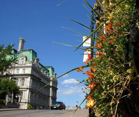 street scene near old city hall of Montreal Stock Photo