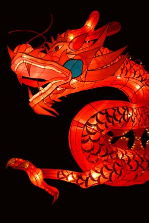 Chinese traditional dragon lantern Stock Photo