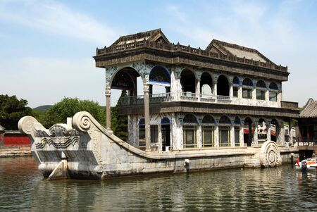 marble boat in summer palace of Beijing,China