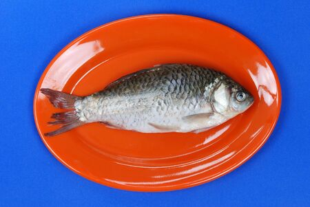 fish in dish Stock Photo
