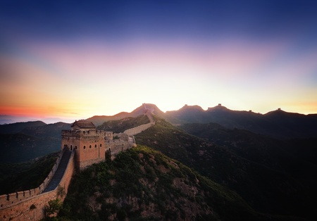 Great Wall of China at Sunrise photo