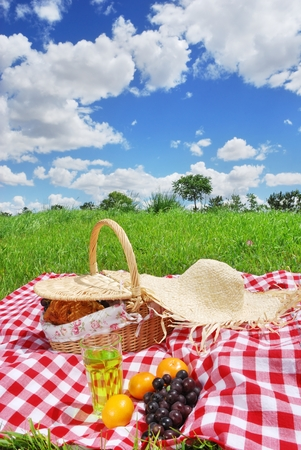 basket: picnic Stock Photo
