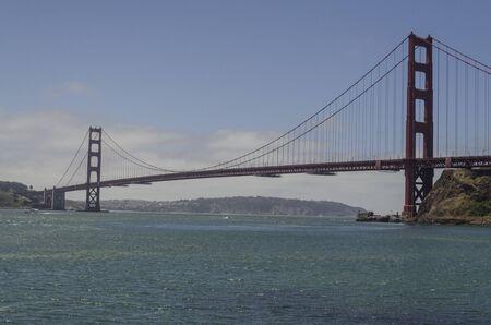 San Francisco, USA, June 27th 2019: Golden Gate Bridge in a sunny day