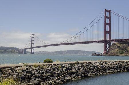San Francisco, USA, June 27th 2019: Golden Gate Bridge panoramic view