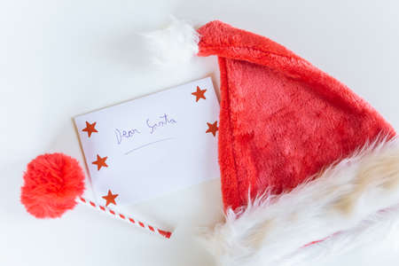 Letter to Santa Claus with white background.