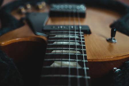 Fretboard of  electric guitar