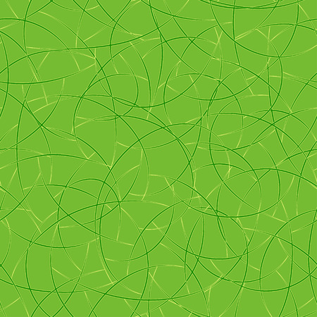 Green Seamless Texture with arc intersecting lines