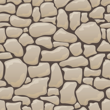 Vector seamless texture of stones in brown colors.
