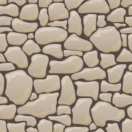 Vektor nahtlose Textur von Steinen in braunen Farben.