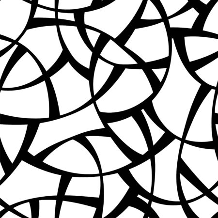 Vector Seamless black and white pattern. Abstract Geometric Background Design