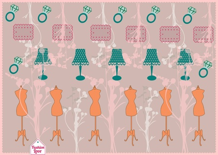 Vintage Girly Background Vector