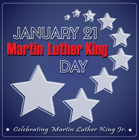 Martin Luther King Badge Set Vector
