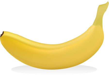 banana on clean white background