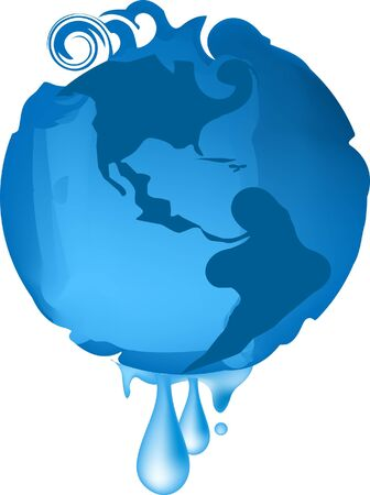 conceptual global warming on white background