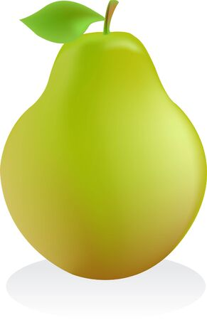 pear on clean white background