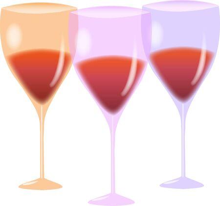 3 wine glass