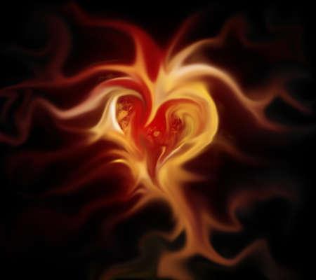 heart in flames