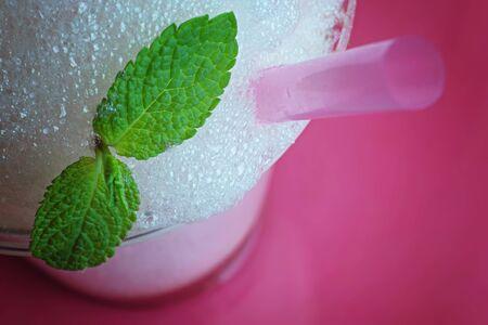 Glass of oxygen cocktail foam Stok Fotoğraf