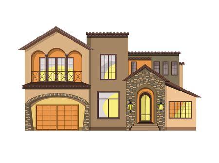 Mediterranean Revival architecture. Mediterranean Style Home.