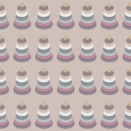 Seamless pattern with the image of children s toys.