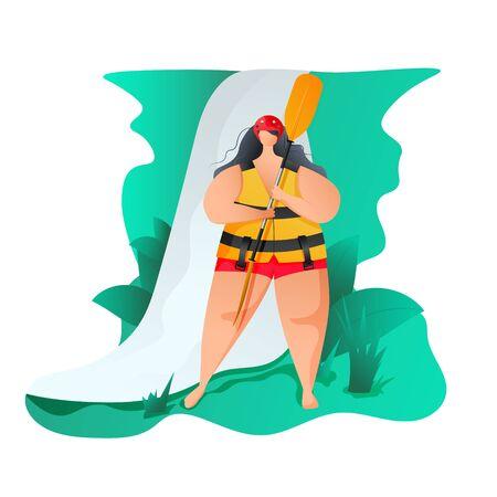 Woman with a oar Banco de Imagens - 144726546